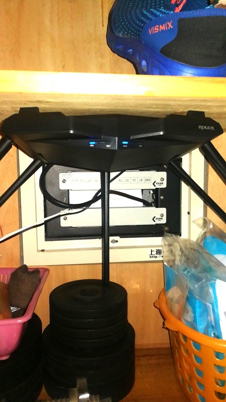 家里用的200M电信光纤...