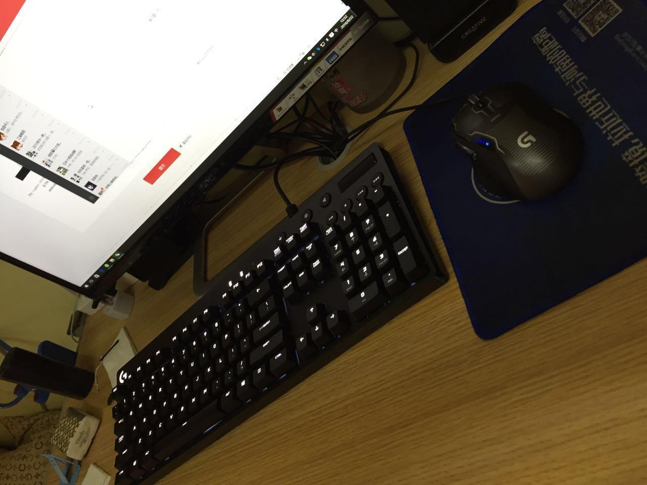 键盘很给力,操作灵敏...