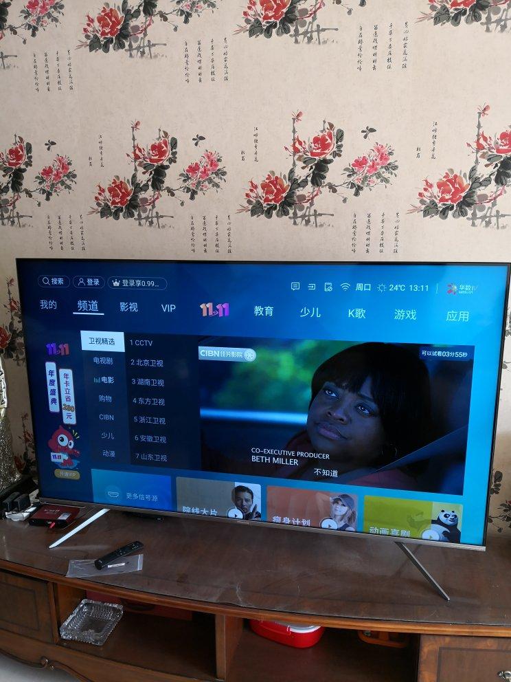 电视外观非常漂亮,上...