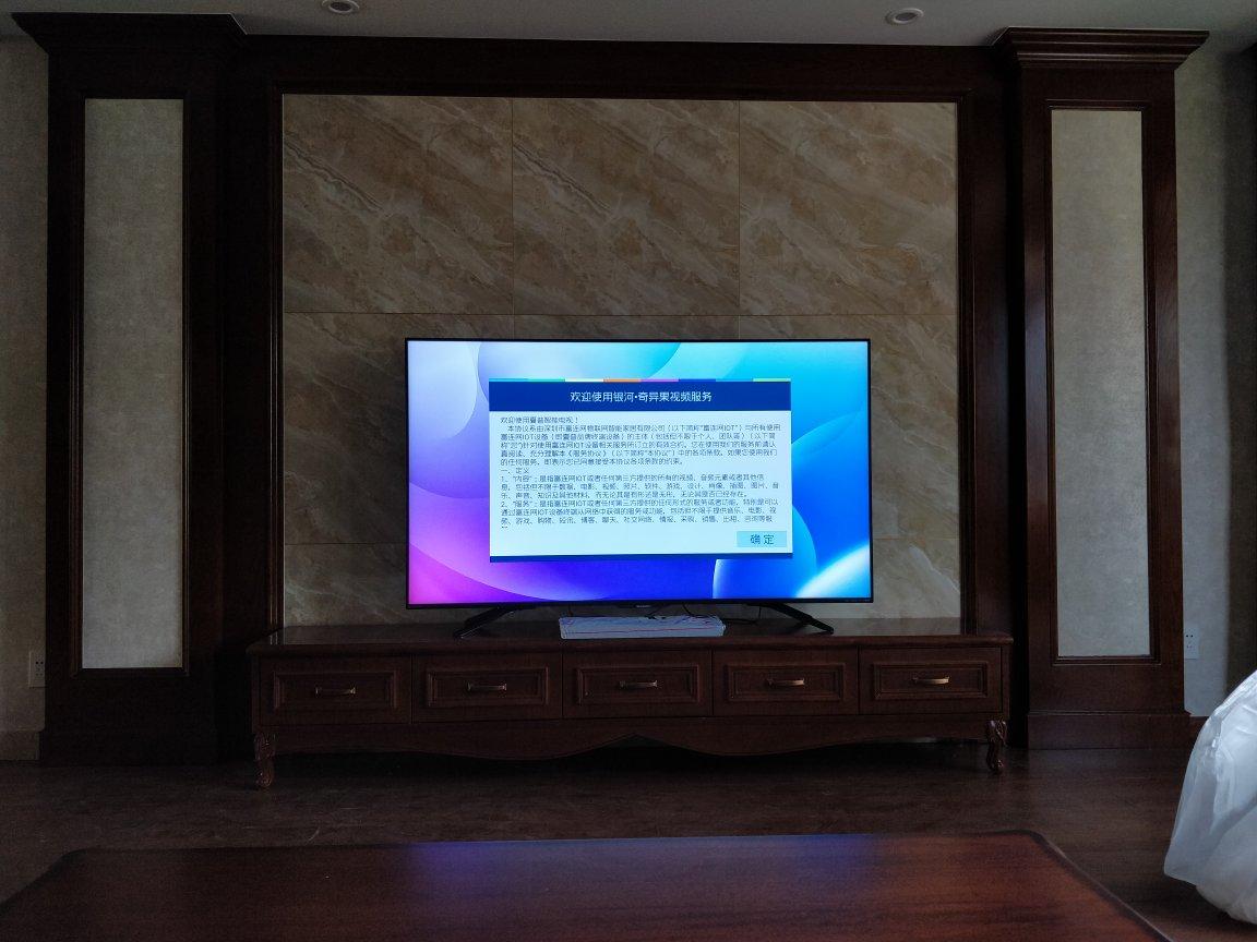 很大,我喜欢这个电视...