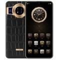 克里特Mate12 Max商务智能手机 全面屏大电池超长待机双卡可用5G卡40保时捷X2手机 鳄鱼纹黑色 8+256G