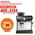 铂富(Breville) BES870/878 家用意式 咖啡机半自动 磨豆打奶泡两用咖啡机 BES870  黑色