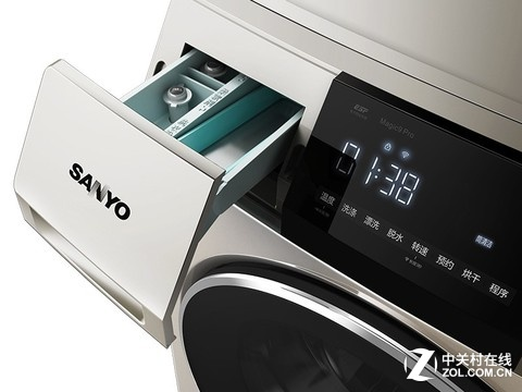 三洋9公斤 变频滚筒洗衣机2299元包邮