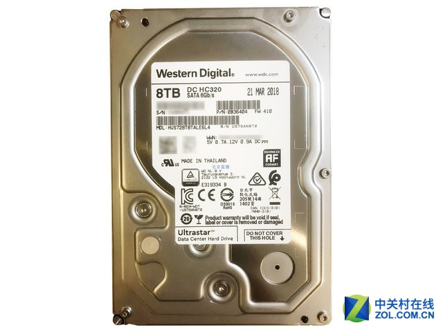西部数据Ultrastar DC HC320 8TB售1600元
