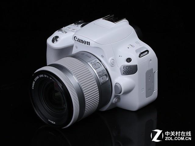 白色mini单反 佳能EOS 200D套机4199元