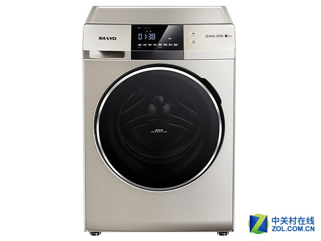 SANYO三洋9公斤 变频滚筒洗衣机2299元包邮