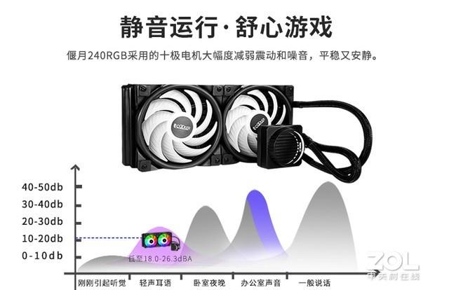 颜值超绝 超频三偃月240RGB水冷热销