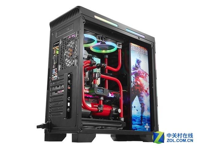 9把RGB风扇 金河田峥嵘Z30水冷机箱
